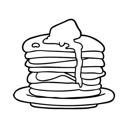 Hand drawn stack of pancakes