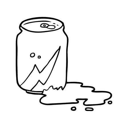 Line drawing of a can of soda