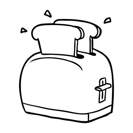 Hand drawn toasting bread