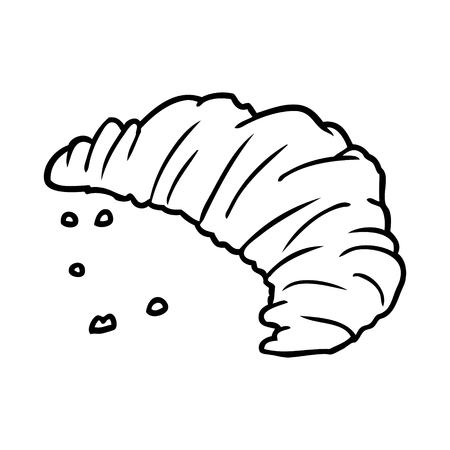 Hand drawn croissant