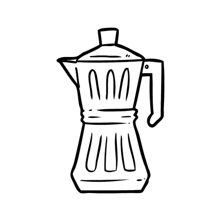 Hand drawn espresso maker