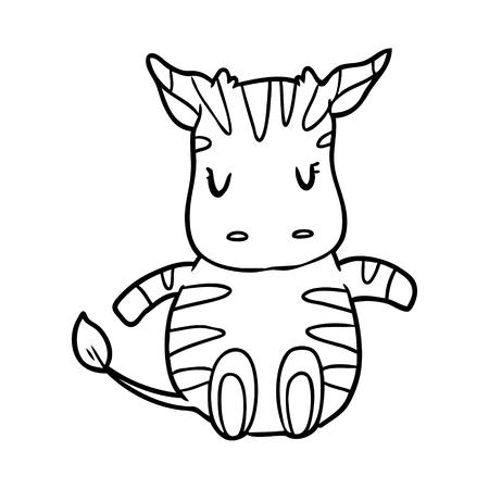 Hand getrokken zebra Stockfoto - 95062886
