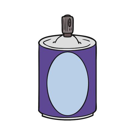 Hand drawn cartoon aerosol spray can Ilustração
