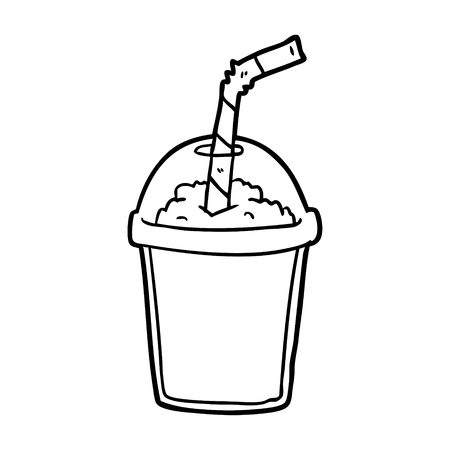 Hand drawn iced smoothie