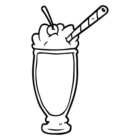 Hand drawn milkshake Stock Illustratie