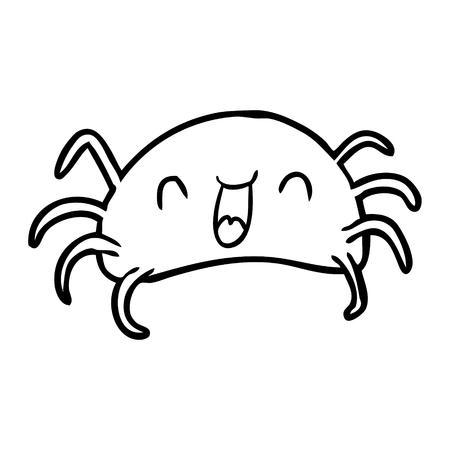 Hand drawn Halloween spider