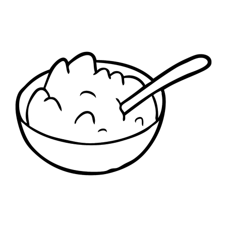 Hand drawn bowl of porridge