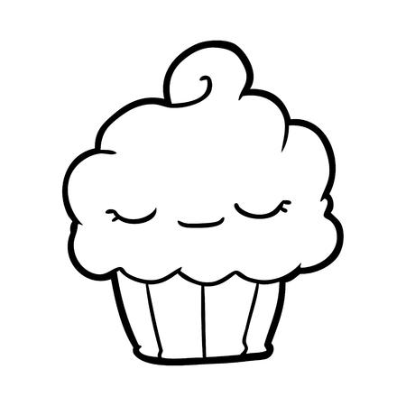 Hand drawn cupcake