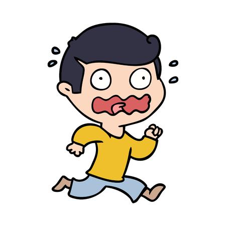 手描き漫画の男は完全にストレスを感じ