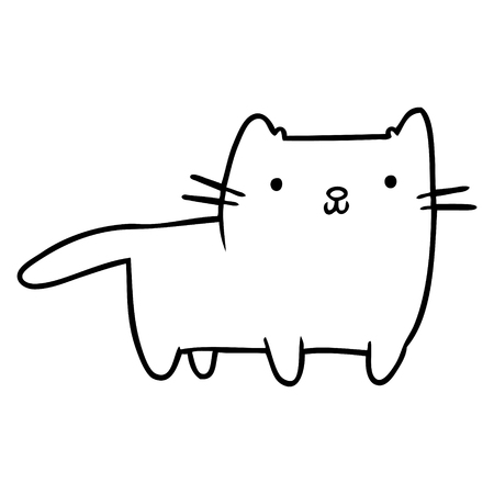 Hand drawn cat