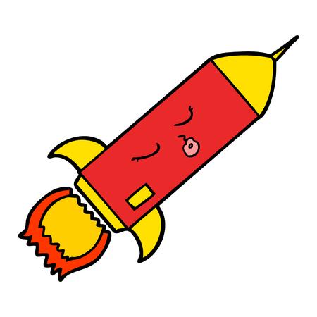 cartoon rocket illustration design. 版權商用圖片 - 94930251
