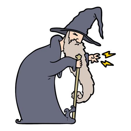 만화 마법사 그림 디자인입니다. 일러스트