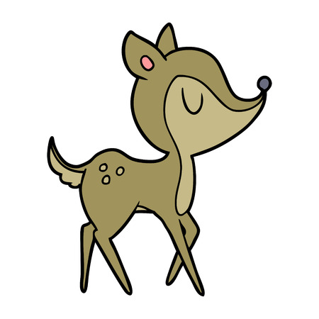 Cervo simpatico cartone animato Archivio Fotografico - 94930340