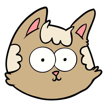 cartoon cat face