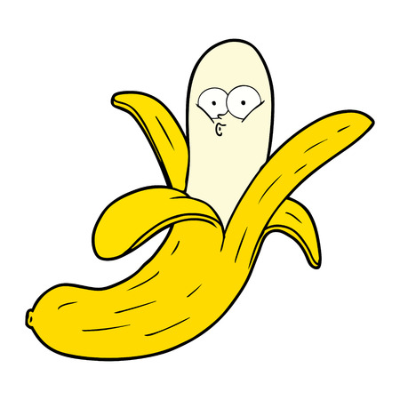 cartoon banana with face