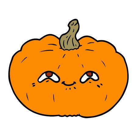 happy cartoon pumpkin Çizim