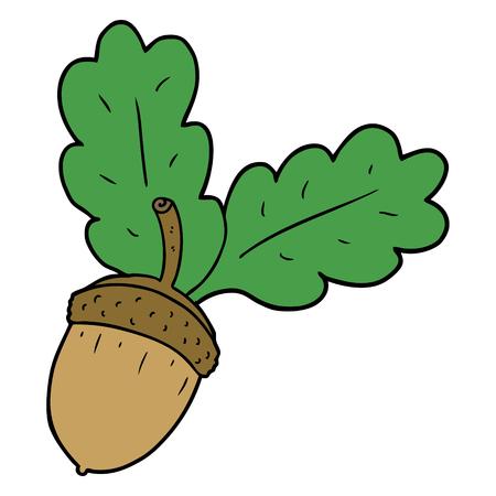 cartoon acorn illustration Illusztráció