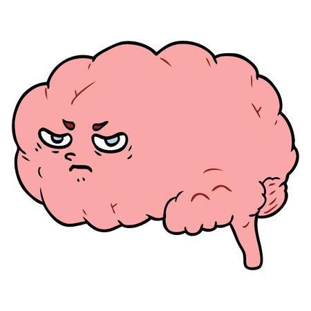 漫画怒っている脳