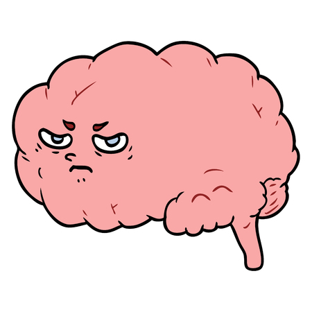 cartoon angry brain