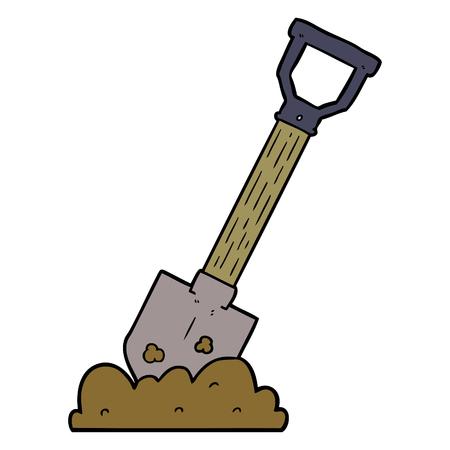 cartoon shovel illustration design.