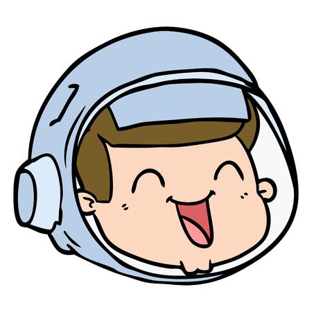 cartoon gelukkig astronaut gezicht