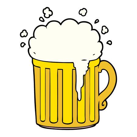 Caneca de cerveja de desenhos animados Foto de archivo - 94930633