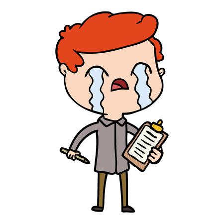 漫画のセールスマン泣く