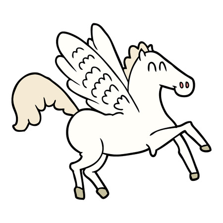 cartoon winged horse