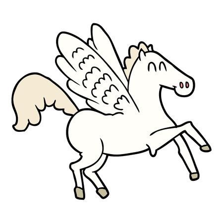 cartoon winged horse