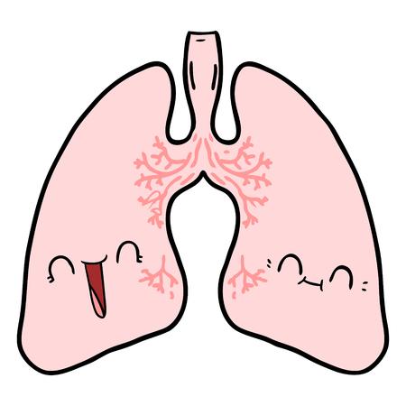 cartoon lungs illustration design. 일러스트