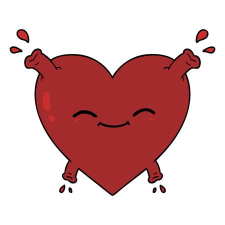 cartoon happy heart