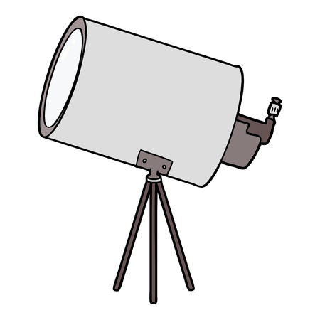 cartoon big telescope Illustration