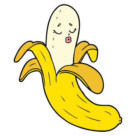 cartoon best quality organic banana Illustration