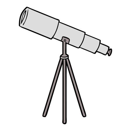 만화 망원경 그림 디자인.