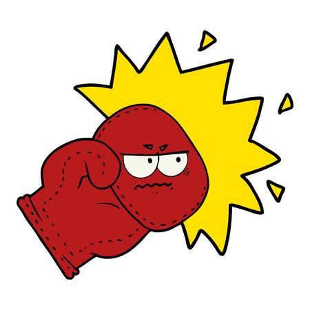 Gant de boxe dessin animé Banque d'images - 94931754