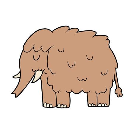 Cartoon Mammut isoliert auf weißem Hintergrund Standard-Bild - 94932152