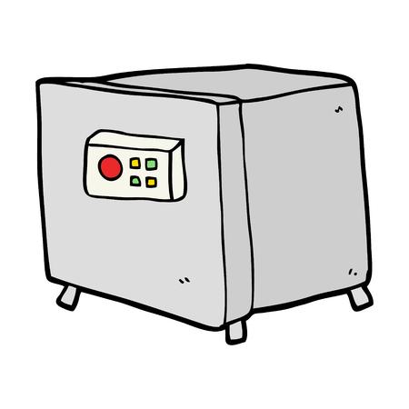 Beeldverhaalbrandkast op witte achtergrond wordt geïsoleerd die Stock Illustratie