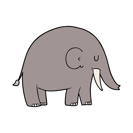 Cartoon elephant isolated on white background Stok Fotoğraf - 94932162