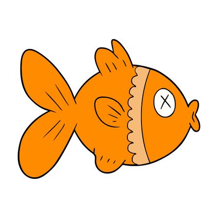 漫画金魚イラストデザイン。