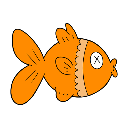 cartoon goldfish illustration design.