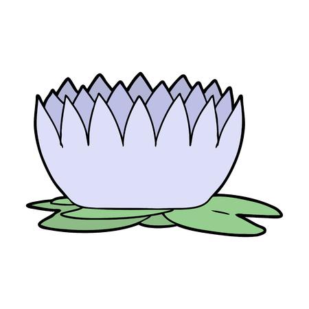 Progettazione dell'illustrazione del waterlily del fumetto. Archivio Fotografico - 94932280