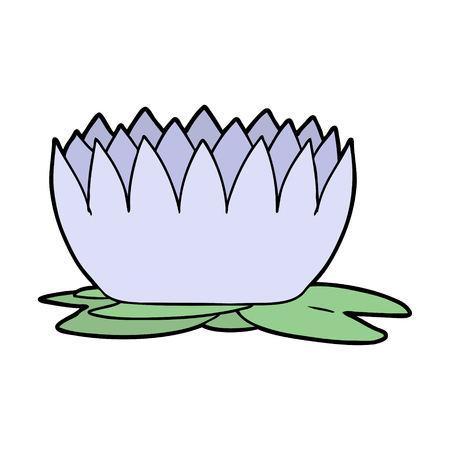 cartoon waterlily illustration design.