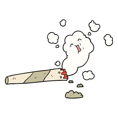 만화 흡연 담배 벡터 일러스트 레이 션. 일러스트