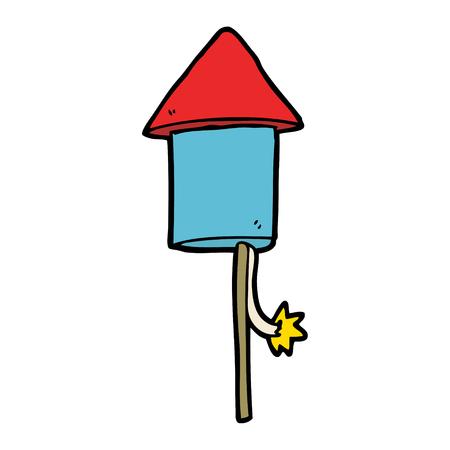 cartoon firework Vector illustration.