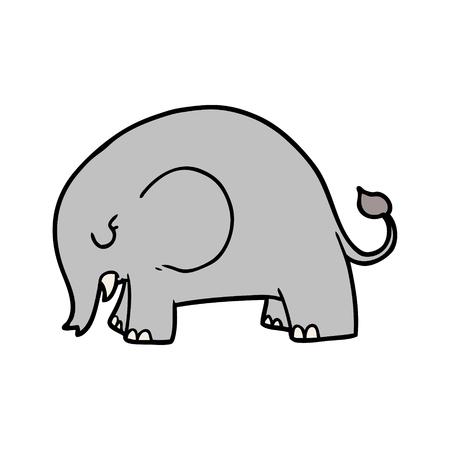 Ilustração em vetor elefante bonito dos desenhos animados. Foto de archivo - 94931541