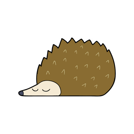 cartoon hedgehog Vector illustration.