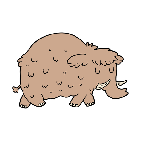 cartoon prehistoric mammoth Иллюстрация