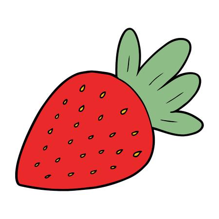 cartoon strawberry Vector illustration.