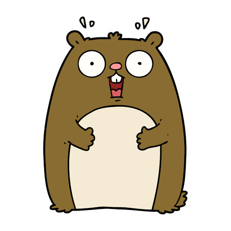 cartoon shocked ground hog Banco de Imagens - 94931567