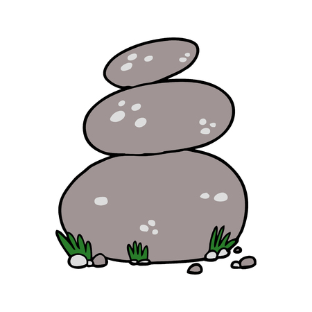 cartoon large stacked stones